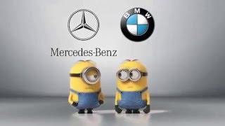 Mercedes Benz vs  BMW Minions Style