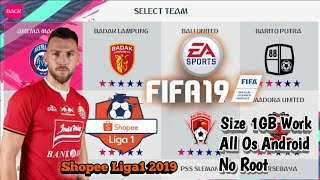 Gambar cover Download!. FIFA19 Mobile Apk Mod Shopee Liga1 2019, Size 1GB, No Root, Work All Os Android
