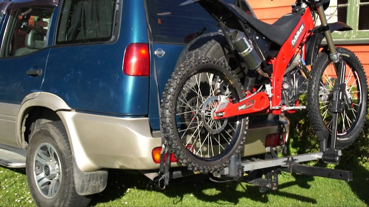 Bike Rack For Suv >> Motorcycle on SUV Carrier - FX Bikes Mountain Moto - YouTube