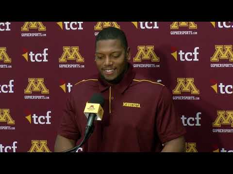 Gopher - VIDEO: Gophers LB Thomas  previews Wisconsin | #KFANGophers