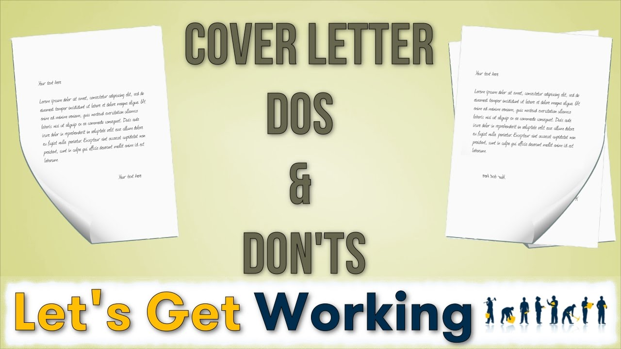 Cover letter writing DOs & DON'Ts - YouTube