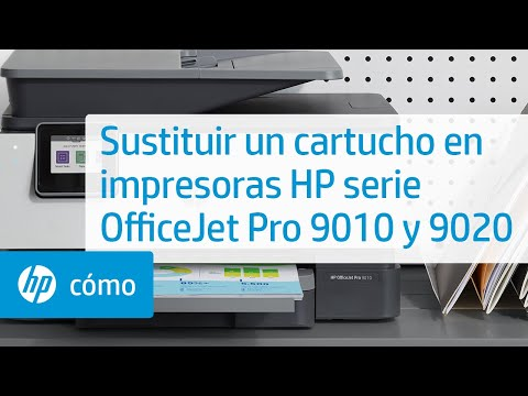 Sustituir un cartucho en impresoras HP serie OfficeJet Pro 9010 y 9020 | HP OfficeJet | HP