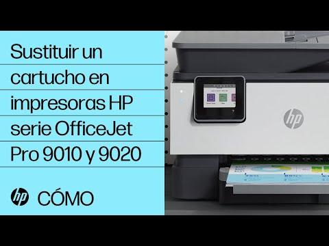 Sustituir un cartucho en impresoras HP serie OfficeJet Pro 9010 y 9020   HP OfficeJet   HP