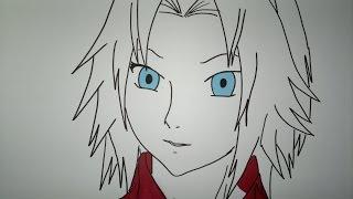 How to draw Sakura Haruno.桜の春野を描画する方法.