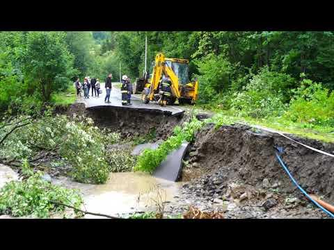Sytuacja po intensywnych opadach deszczu w gminie Kamienica 19 lipca 2018 r