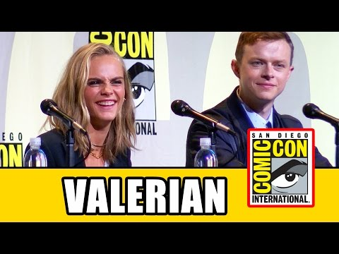 VALERIAN Comic Con Panel Highlights - Cara Delevingne, Dane DeHaan, Luc Besson