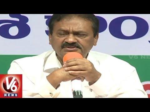 T Congress MLC Shabbir Ali Slams TRS Govt Over Damaged Roads In Telangana | V6 News