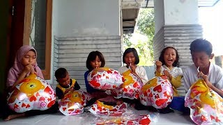 Toys Kids Balloon, Balloons Challenge, Balloons Character Love | Song Balonku Ada Lima