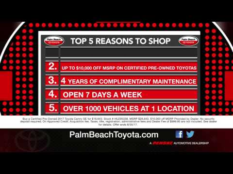 The Top 5 Reasons to Shop at Palm Beach Toyota!
