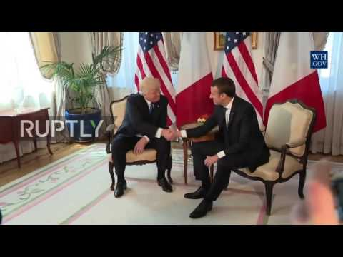 Belgium: Trump and Macron hold first meeting during NATO summit