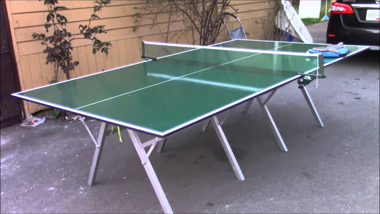 ping pong table folding and portable youtube. Black Bedroom Furniture Sets. Home Design Ideas