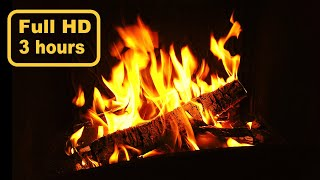 Relaxing Fireplace (NO MUSIC) 🔥 ASMR 🔥 3 Hours Full HD