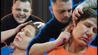 Sleep Hypnosis Massage to a Woman   Asmr Massage (Head massage, Neck Massage, Scalp Massage)
