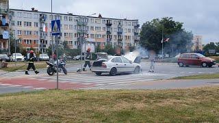 Pożar samochodu na ul. Witosa