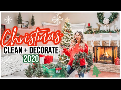 NEW CLEAN + DECORATE WITH ME FOR CHRISTMAS 2020! @Brianna K 2020 CHRISTMAS DECOR PART 1