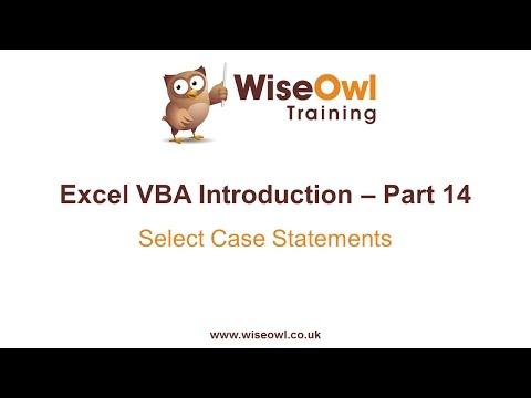 Excel VBA Introduction Part 14 - Select Case Statements