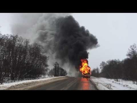 Сгорел 48 автобус.  23.12.2016 Истра Московская Область