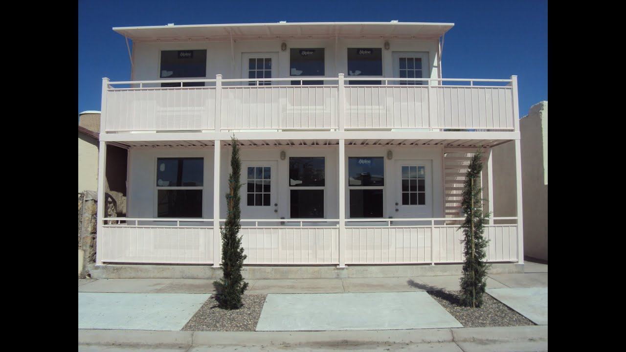 Shipping Container Apartments 4507 Rosa El Paso Texas - YouTube