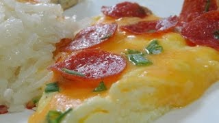 Pepperoni And Cheese Scrambled Eggs