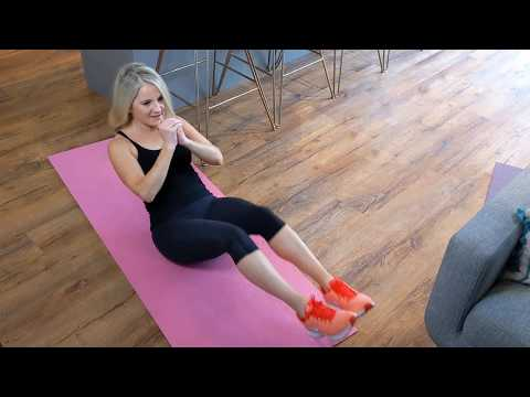 5-Minute Ab Attack: Seated in-and-out crunch