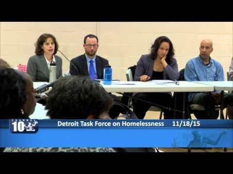 Detroit Task Force on Homelessness - Nov. 18, 2015