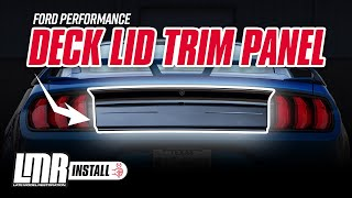2015-2018 Mustang Ford Performance Deck Lid Trim Panel - Review & Install