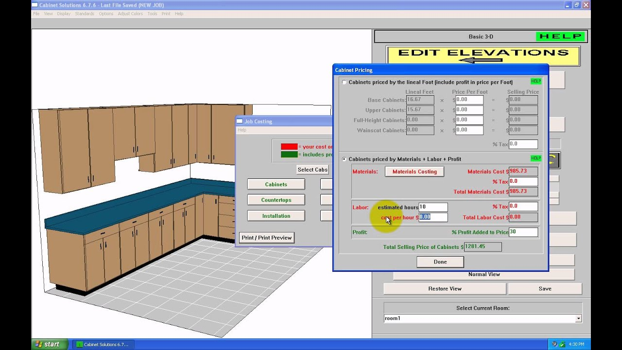 cabinet estimating software free costing amp estimating in cabinet solutions software 462