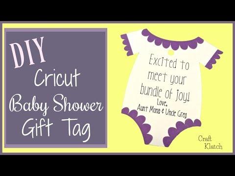 Baby Shower Gift Tag | Cricut Crafts | Craft Klatch