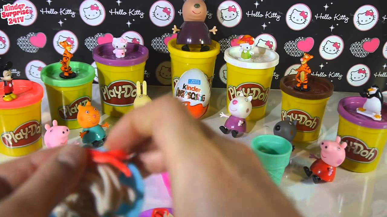 Play Doh Knet Küche Ice Cream Shop Peppa Pig Playdough Popsicle Play Doh Peppa Toys