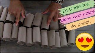 ✅ 2 ideas (PARA HACER EN 5 MINUTOS) reciclando ROLLOS DE PAPEL Ideas fáciles a COSTE 0
