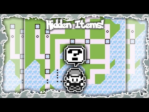 Pokemon Red, Blue And Yellow - Every Hidden Items (All Location)