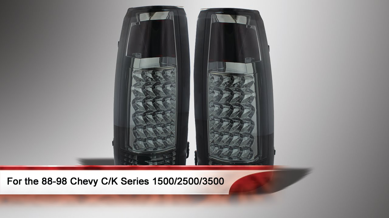 Led Truck Tail Lights >> 88-98 Chevy C/K Series 1500/2500/3500 LED Tail Lights ...