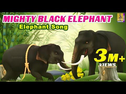 Mighty Black Elephant | Elephant Song | English Kids Songs