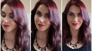 Repeat youtube video My New Hair Colour! Intense Red by Garnier Olia.