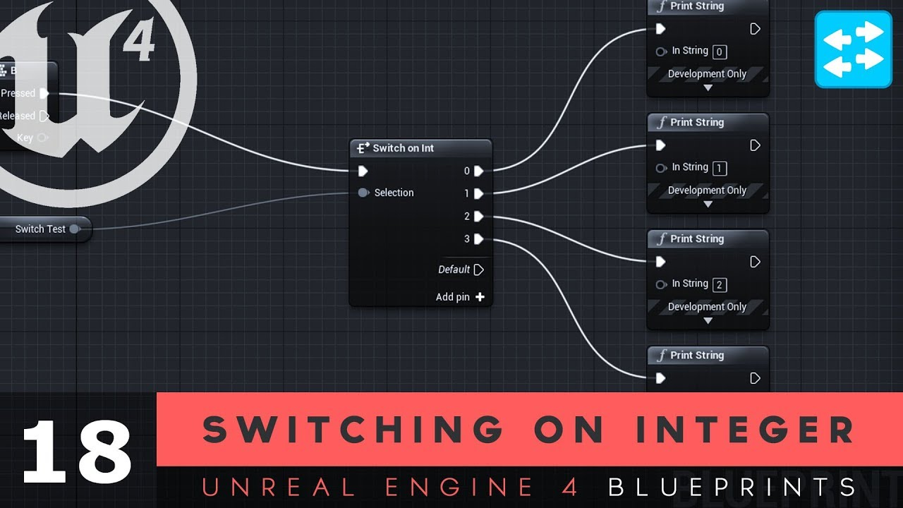 Switch on Integer- #18 Unreal Engine 4 Blueprints Tutorial Series