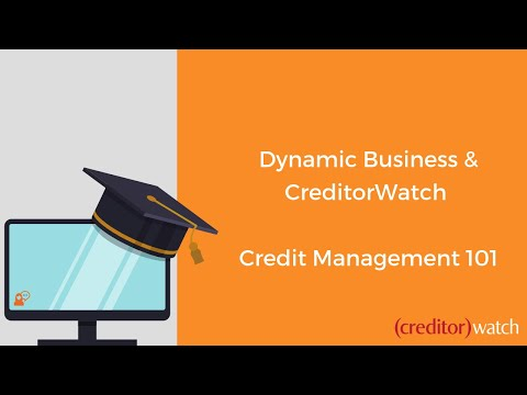 Dynamic Business and CreditorWatch talk 'Credit Management 1