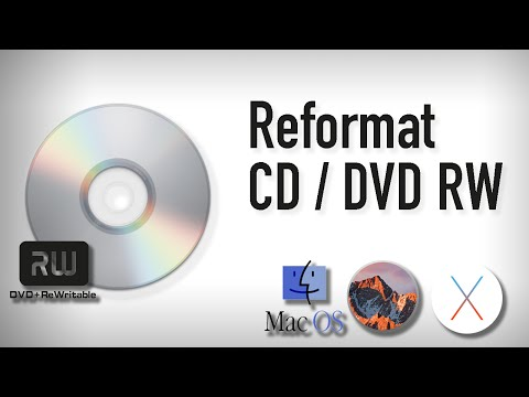 Erase and Rewrite a CD RW or DVD RW Using Mac 2016