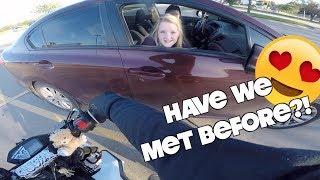 Grom Ventures Ep. 27 - Re-Meeting Girls in Traffic?? | New Wheelie Tricks | Grom Races