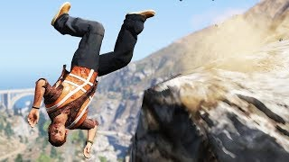 GTA 5 Epic Ragdolls CLIFF SPECIAL