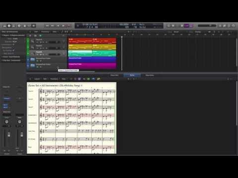 Logic Pro X Score Editor (Score Set & Display Hierarchy)