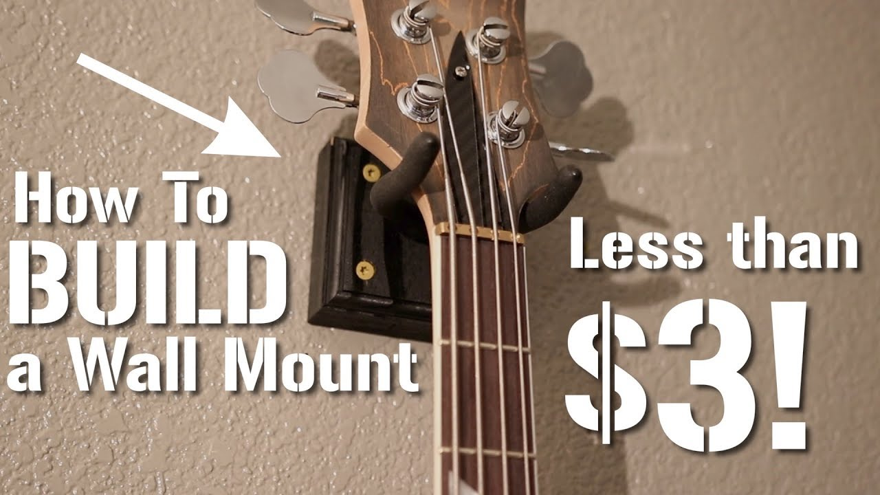 Awesome Diy Guitar Wall Mount For Less Than 3