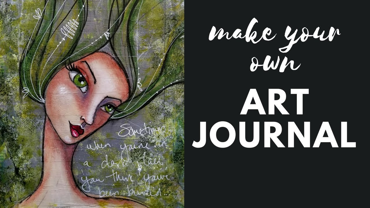How to make your own art journal out of upcycled cereal boxes and a how to make your own art journal out of upcycled cereal boxes and a mixed media girl on the cover ccuart Images