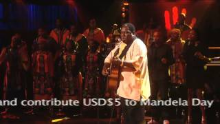 """Vusi Mahlasela performs """"When You Come Back"""" at Mandela Day 2009 from Radio City Music Hall"""