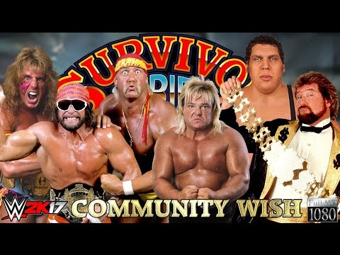 WWE 2K17 GAMEPLAY: Warrior & Mega Powers VS. Andre, Valentine & DiBiase  | Community Wish Match