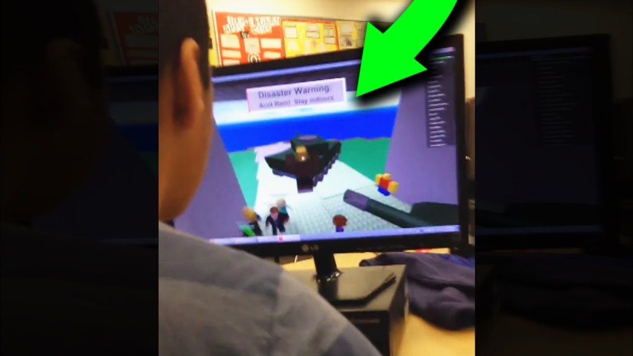 Kid Gets Caught Playing Roblox In School Youtube