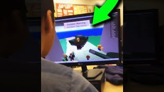 kid gets caught playing roblox in school..