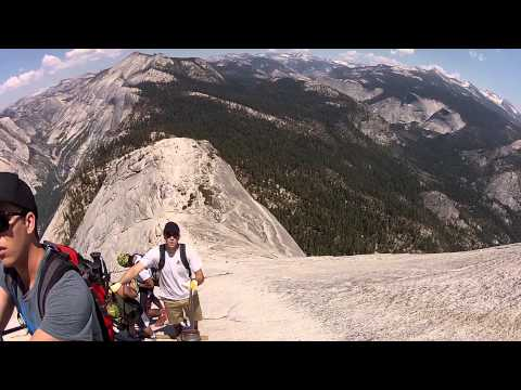Half Dome cables - Yosemite National Park - descent - June 3, 2013