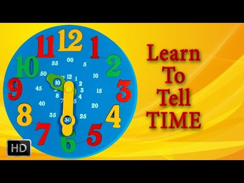 Educational Kids Games - Learn to Tell Time Cat Part 1 - YouTube