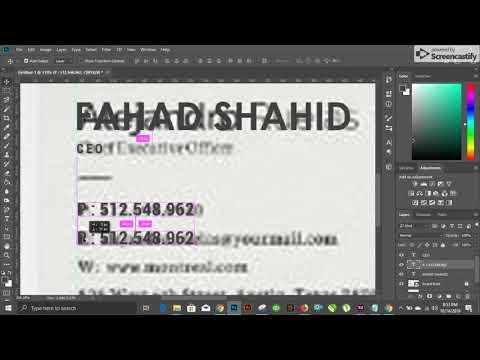 Photoshop Tutorial - Business Card Design Part 2 [2019] thumbnail
