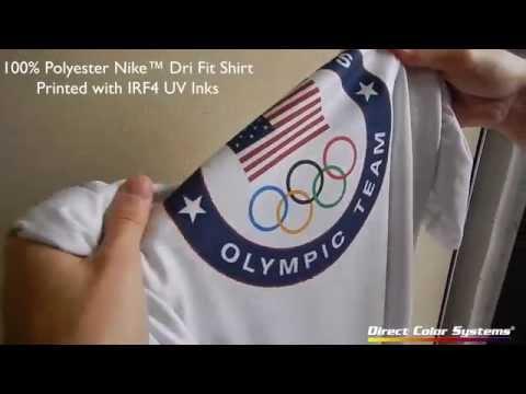 DTG: Printed Nike Dri-FIT Shirt – Stretch Test – Polyester – No Pretreatment